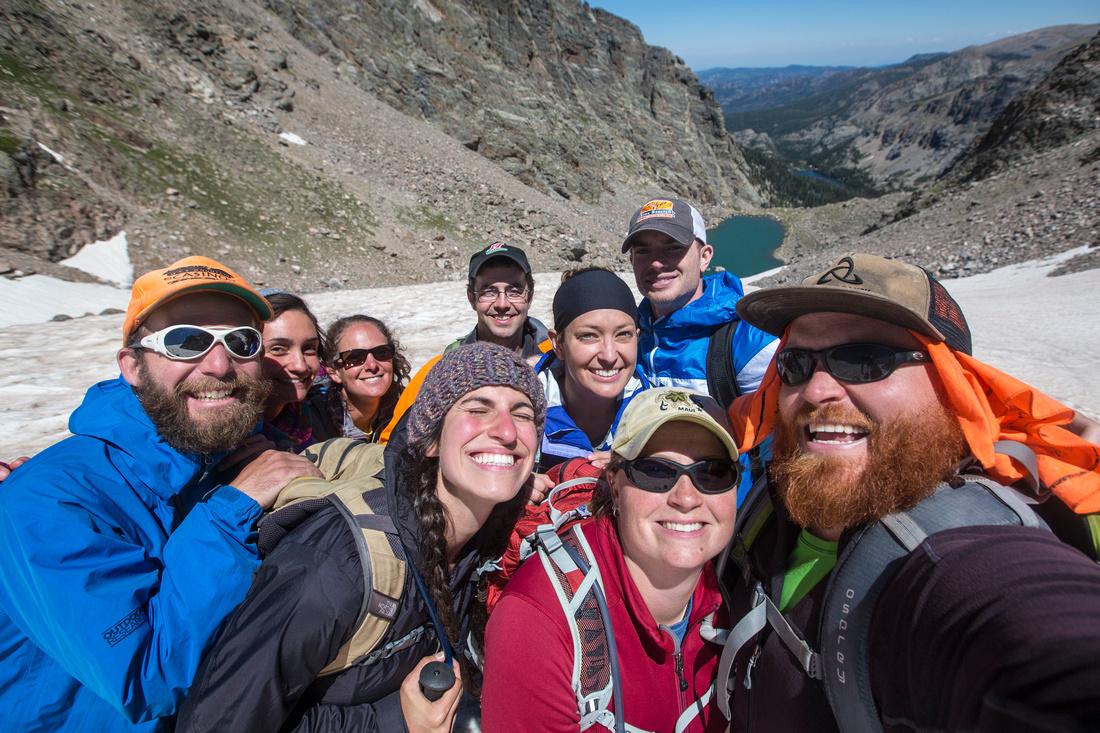 Group on Andrews Glacier
