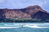 Waikiki Surfer and Diamondhead