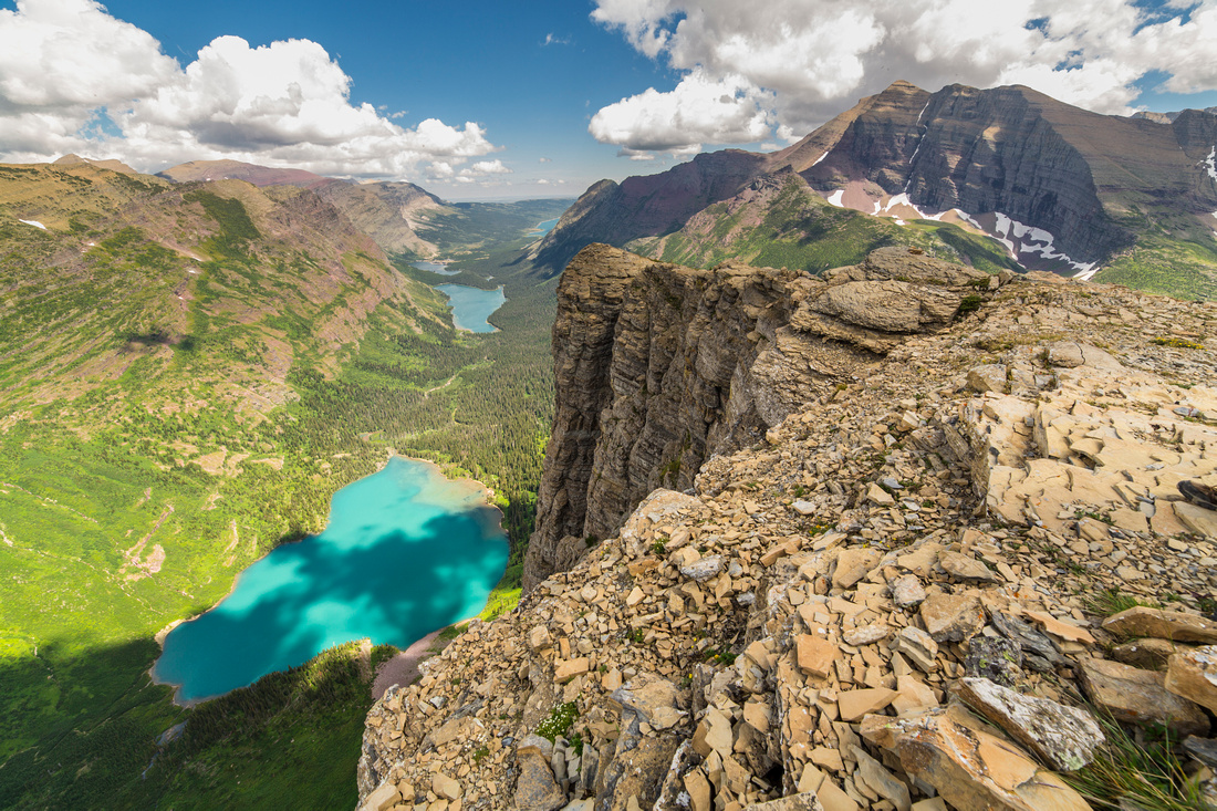 Looking Down on Grinnell Lake From Angel Wing