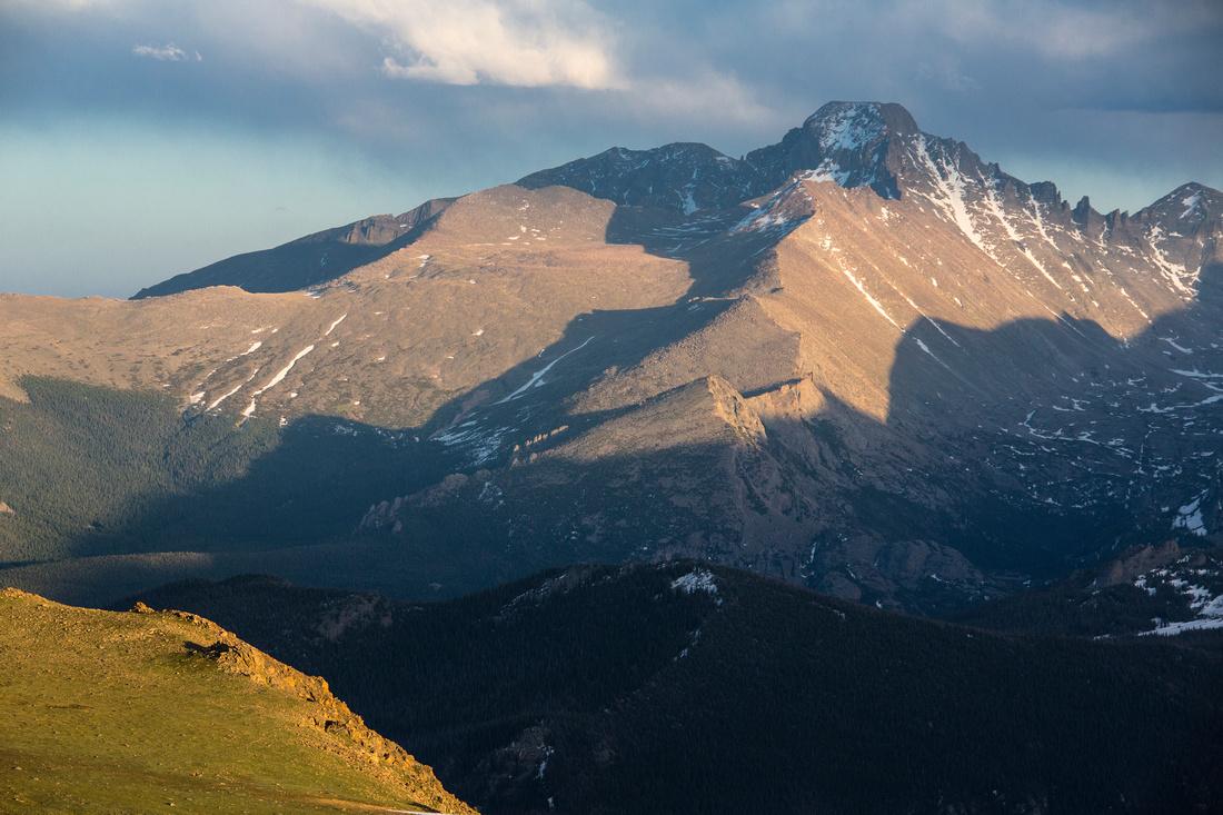 Sunset on Longs Peak