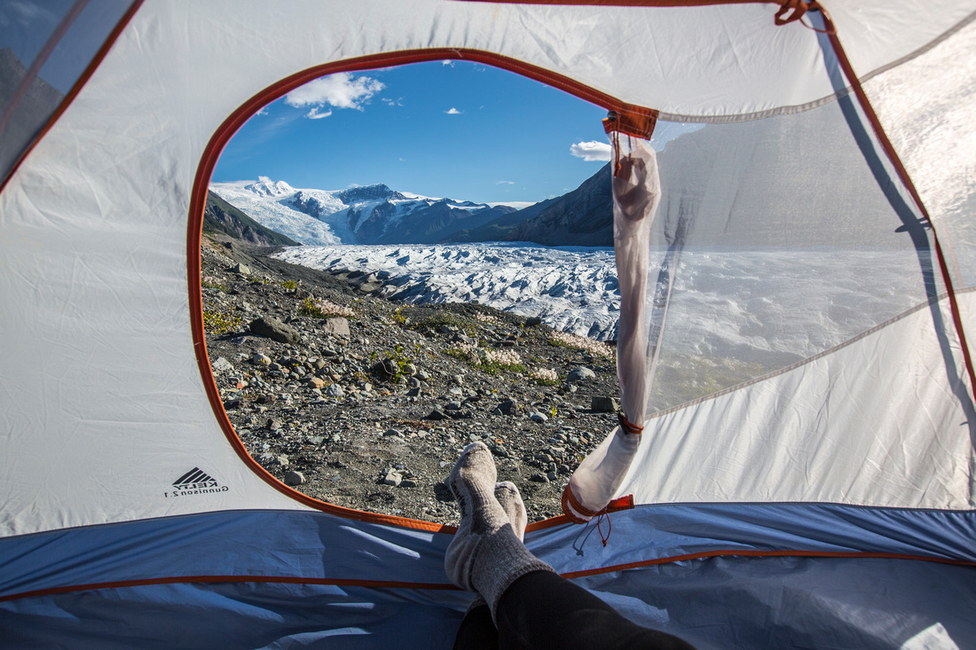 Tent View of the Root Glacier