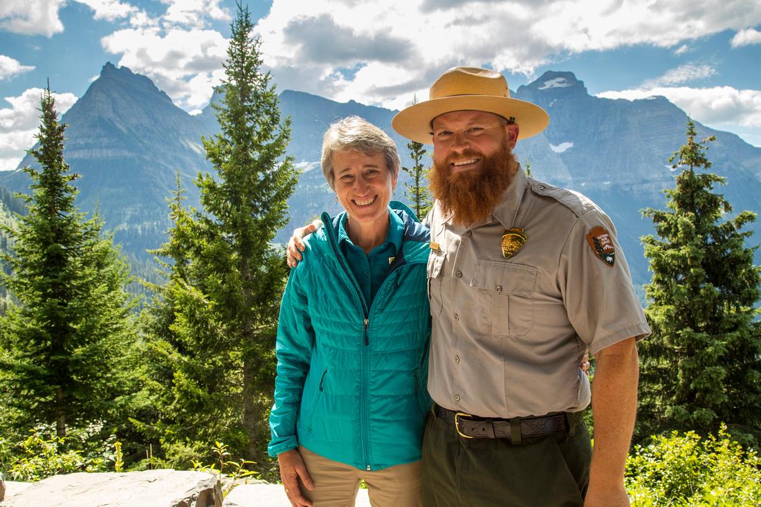 Ranger Jake and Sally Jewell