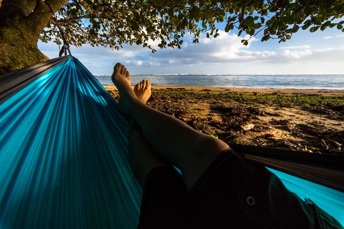 Hanging at 'Anini Beach