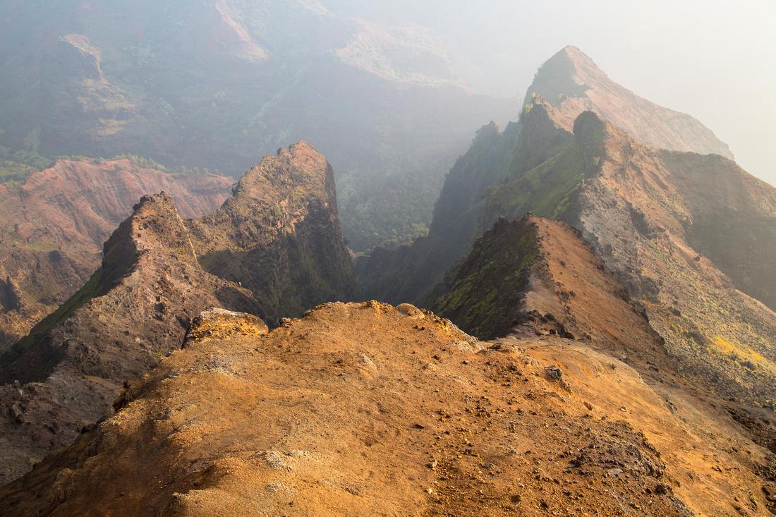 Vog Sunrise from Waimea Canyon Lookout (4)