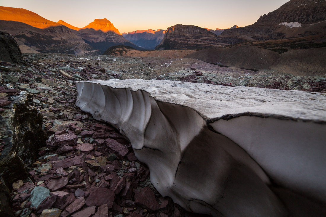 Sunset at the Remnants of Clements Glacier