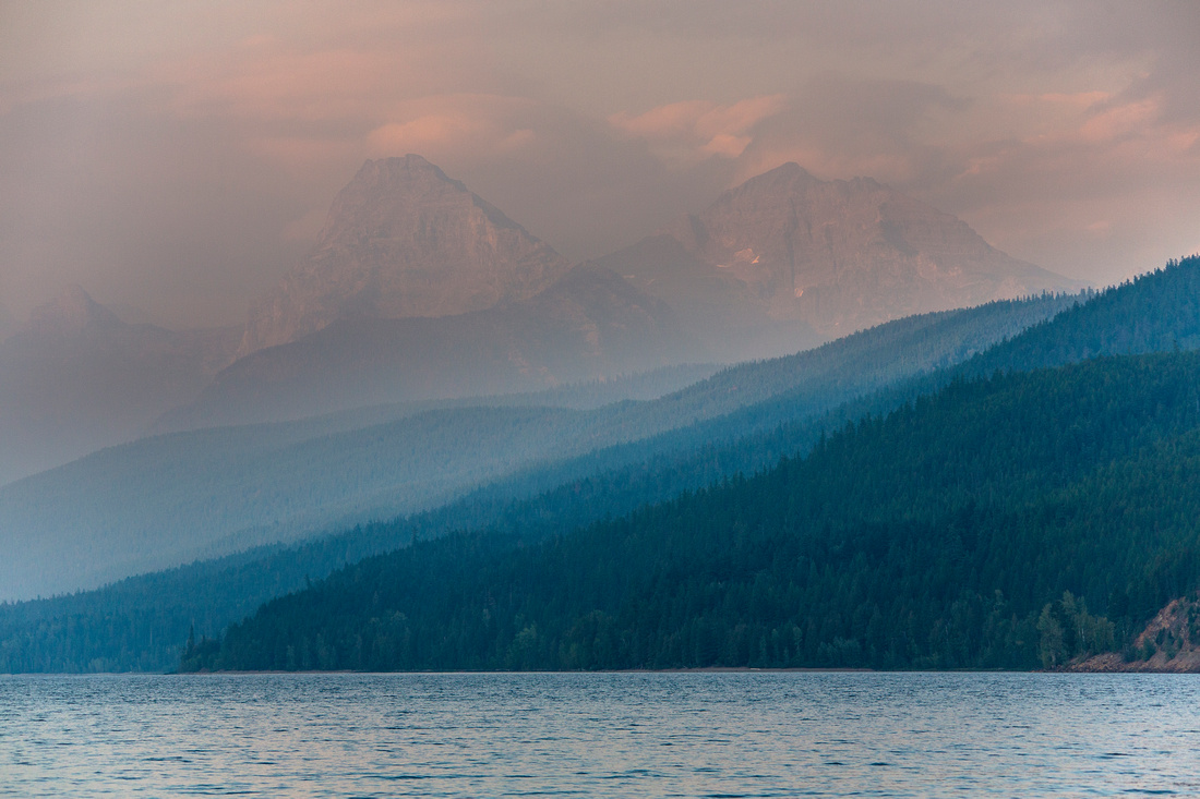 Haze over Lake McDonald