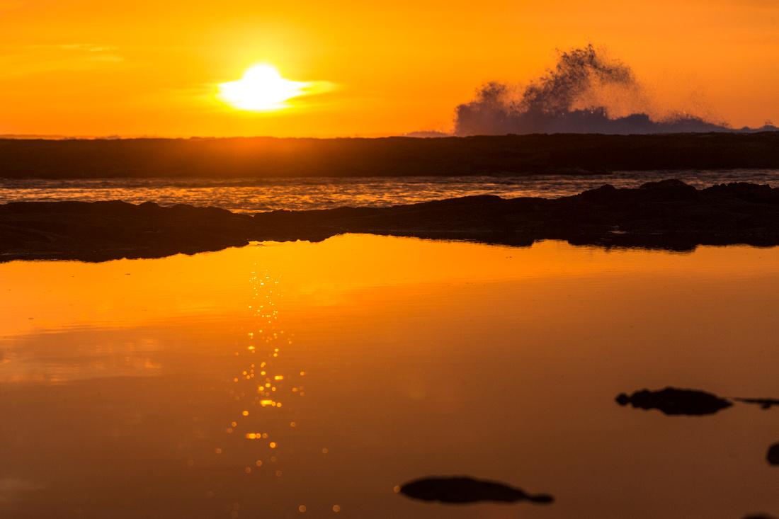 Rough Seas at Sunset