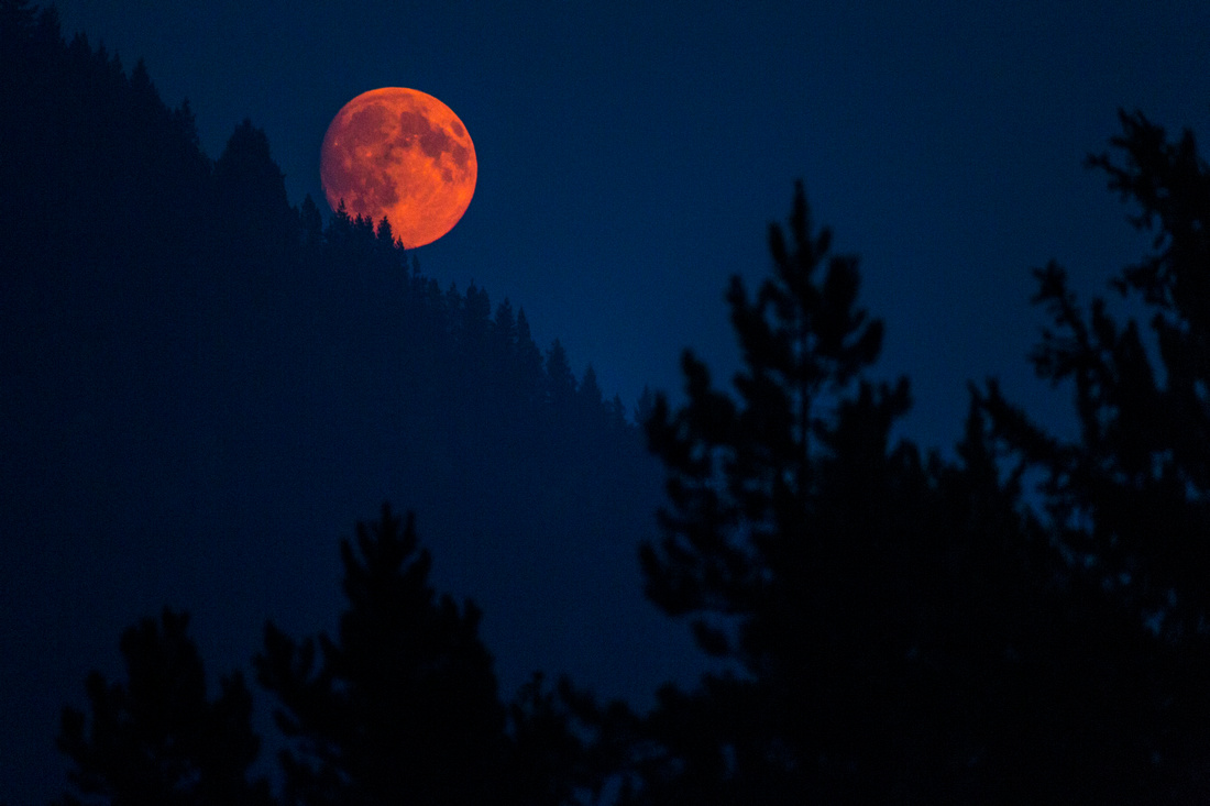 Blood Moon over Snyder Ridge