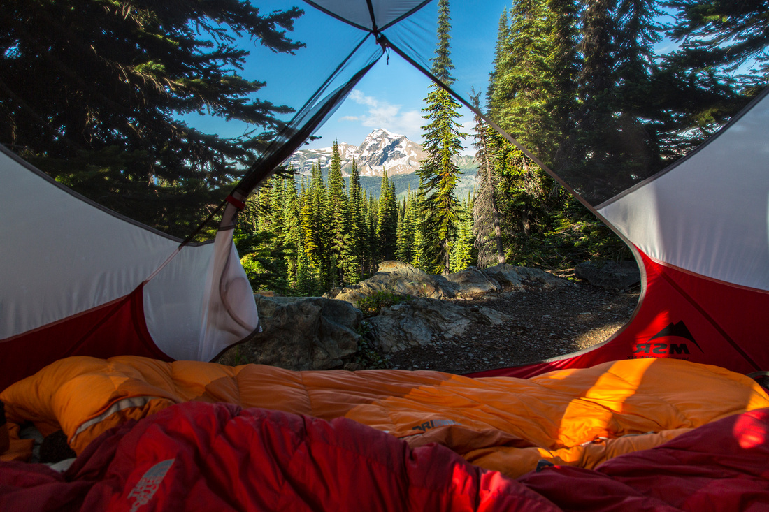 Tent View from Granite Park Trails Cabin