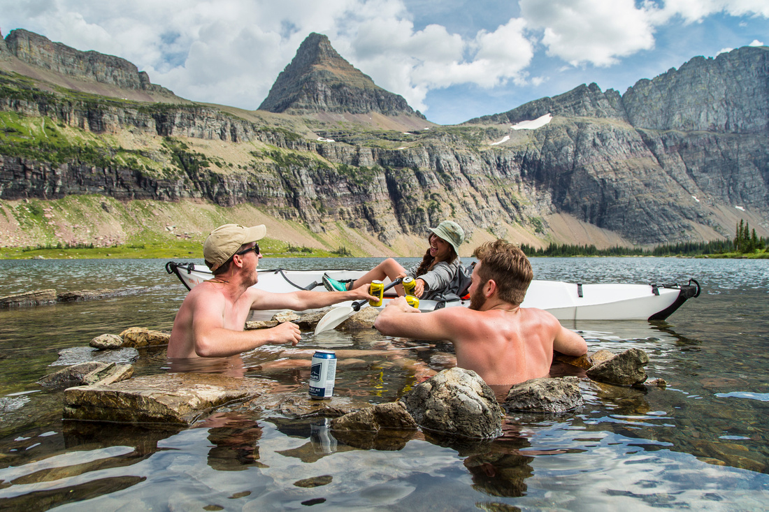 Backcountry Beers and Kayak Toast at Hidden Lake