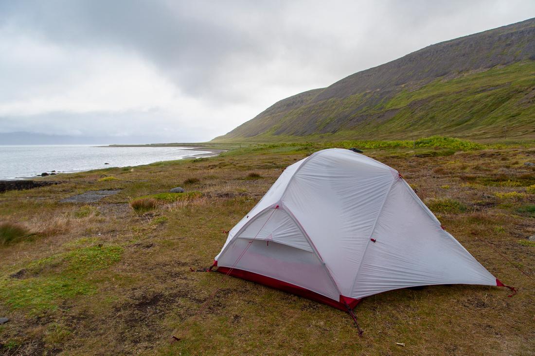 Our campsite at Hesteyri
