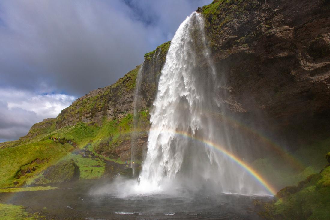 Seljalandsfoss and double rainbow