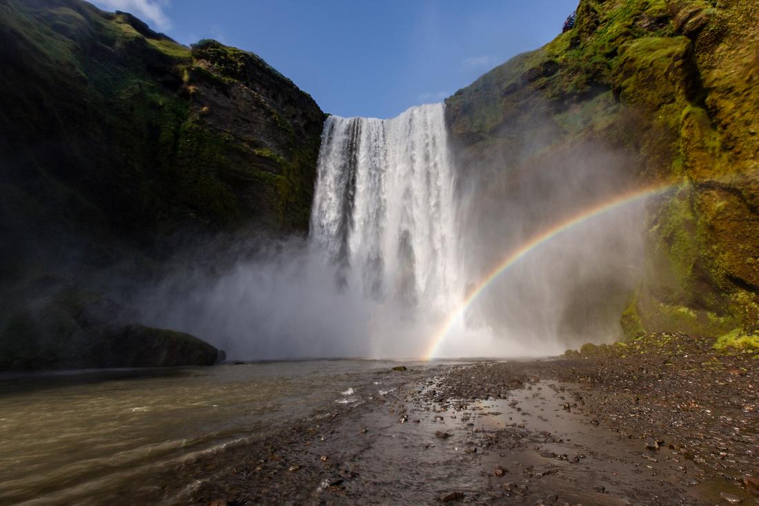 Skógafoss and rainbow