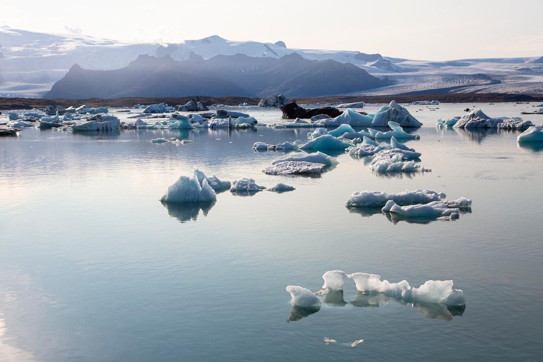 Jökulsárlón and icebergs