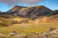 Colorful hills at Landmannalaugar