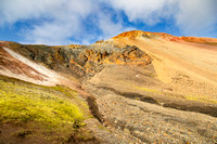 Colorful formations along Laugavegur Trail