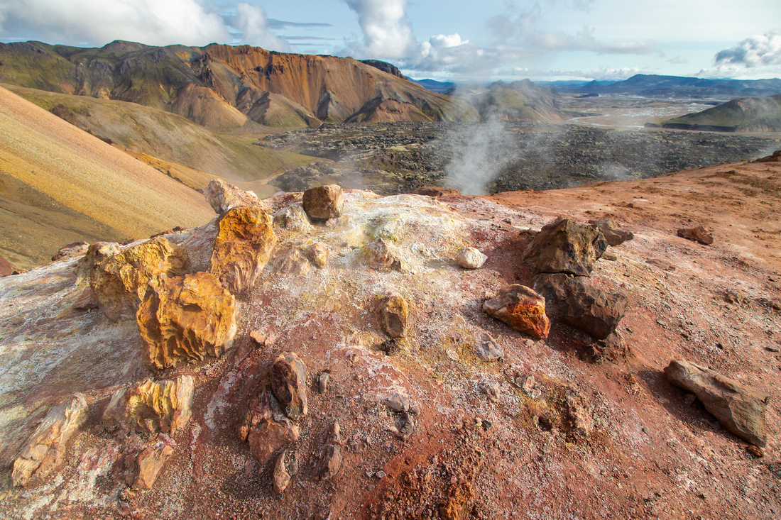 Colorful formations near the thermals