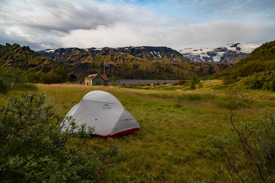 Our campsite at Þórsmörk