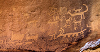 Petroglyphs in Chaco