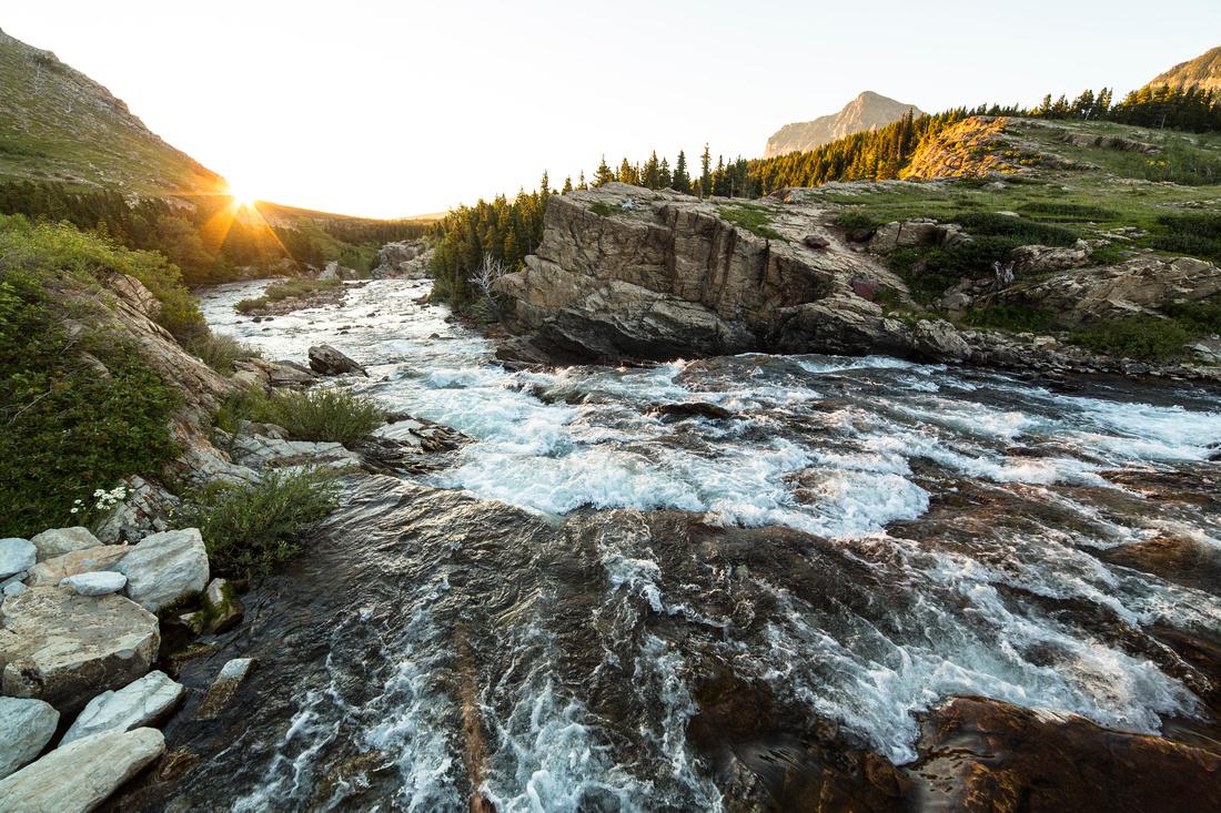 Swiftcurrent Creek Sunrise