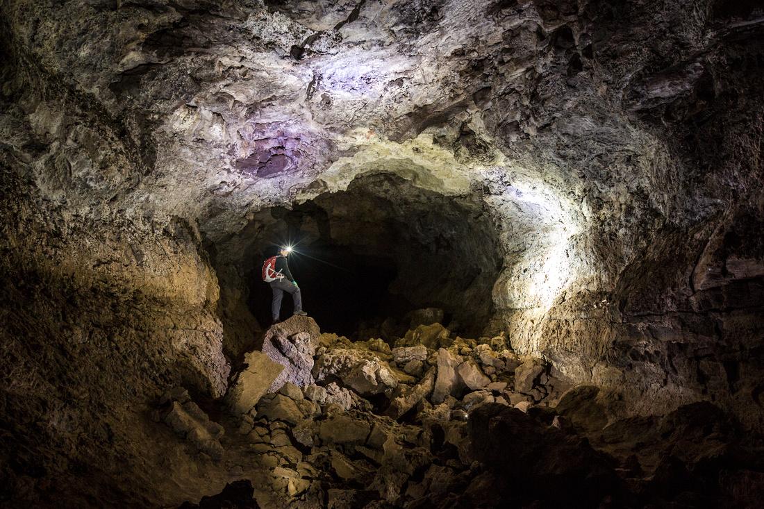 Hiker in Junction Cave