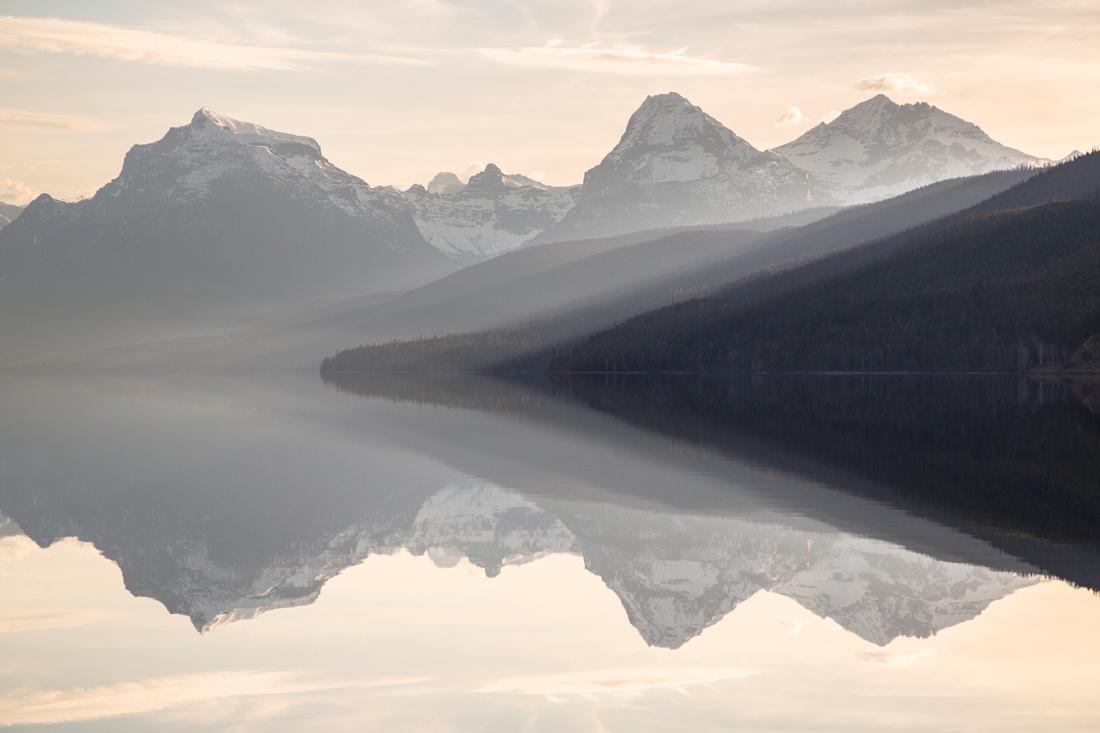 Lake McDonald Layers at Sunrise