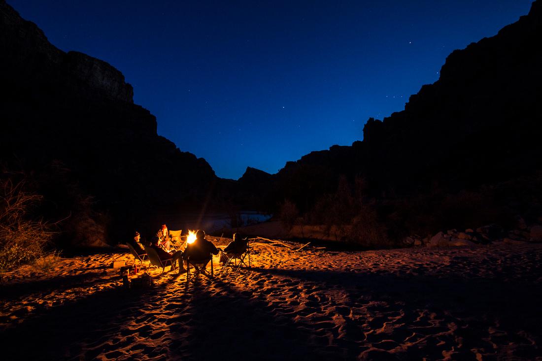 Campfire in Cataract Canyon