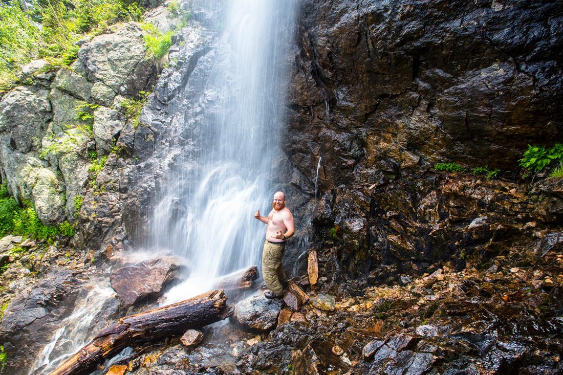 Self-portrait Upper Lost Creek Falls
