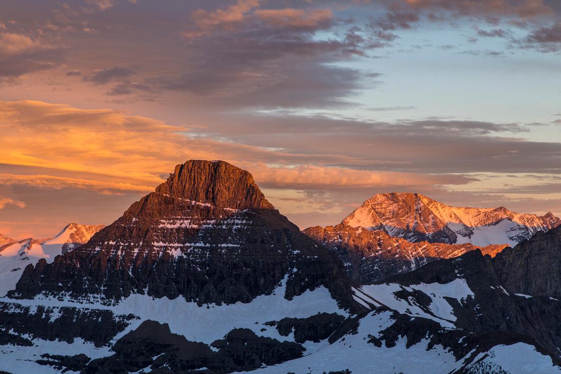 Sunset over Mount Reynolds and Jackson
