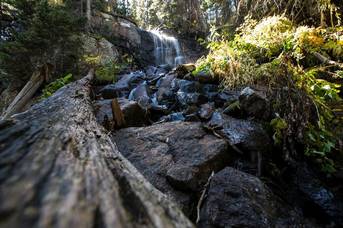 Waterfall Above Spruce Lake