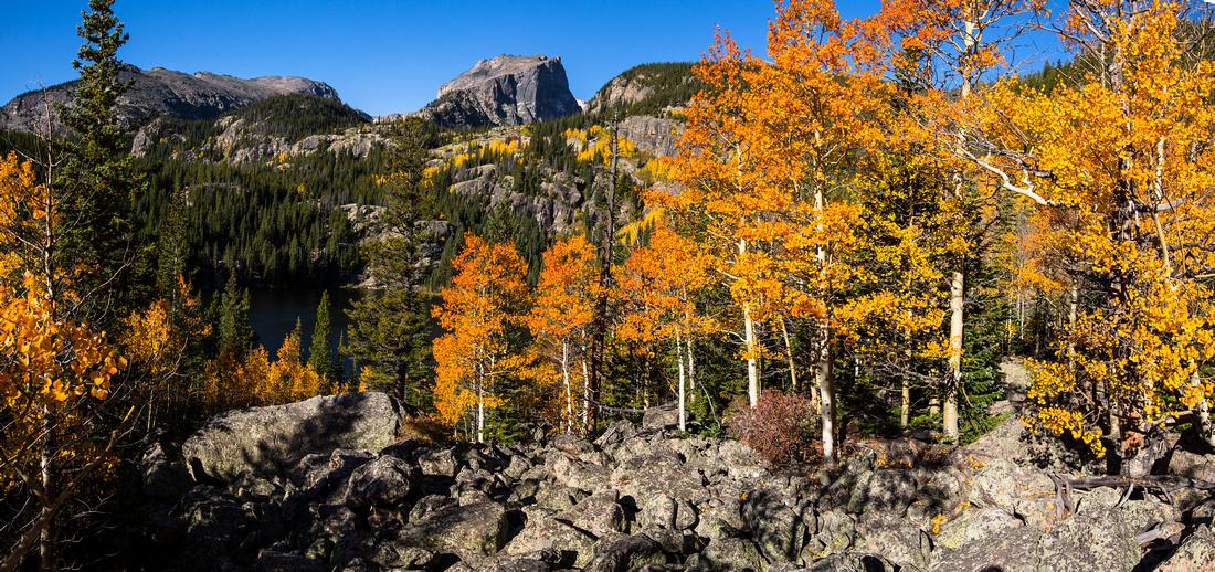 Hallett and Bear Lake Fall Colors Panorama