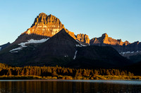Mount Wilbur Sunrise from Swiftcurrent Lake