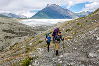 Backpackers on the Root Glacier Trail