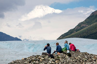 Hikers Having a Snack Overlooking the Root Glacier