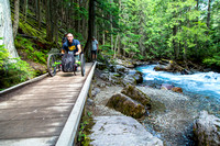 Avalanche Lake Hike with Off-road Wheelchair 02