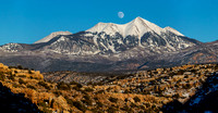 Moonrise over the La Sals