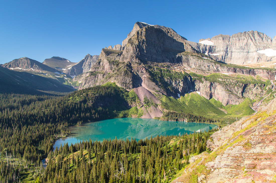 Grinnel Lake and Angel Wing
