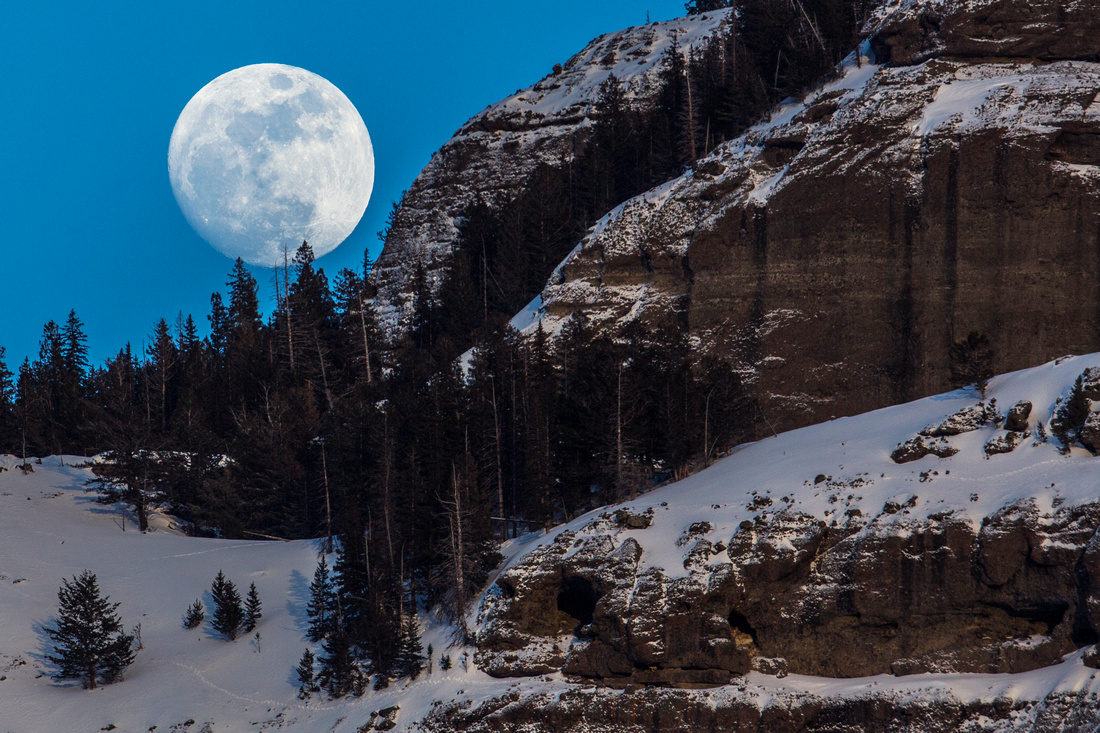 Full Moon over Thunderer in Yellowstone