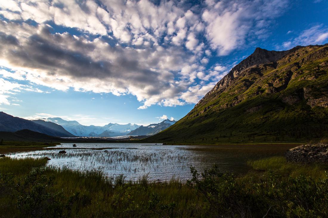 Mount Blackburn and Donoho Peak from Lake 2