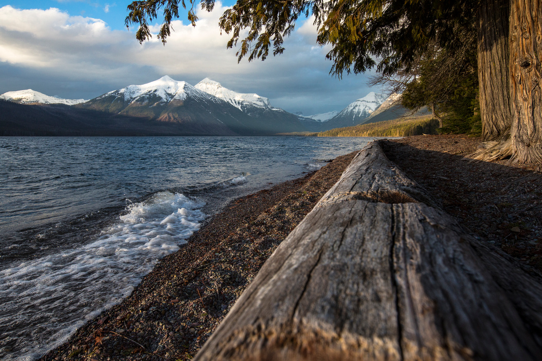 Lake McDonald Shoreline Sunset