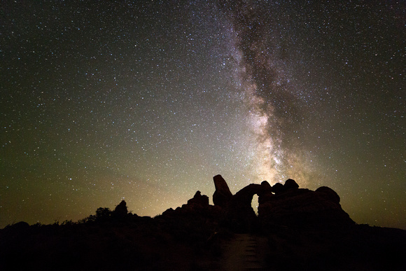 Milky Way over Turret Arch