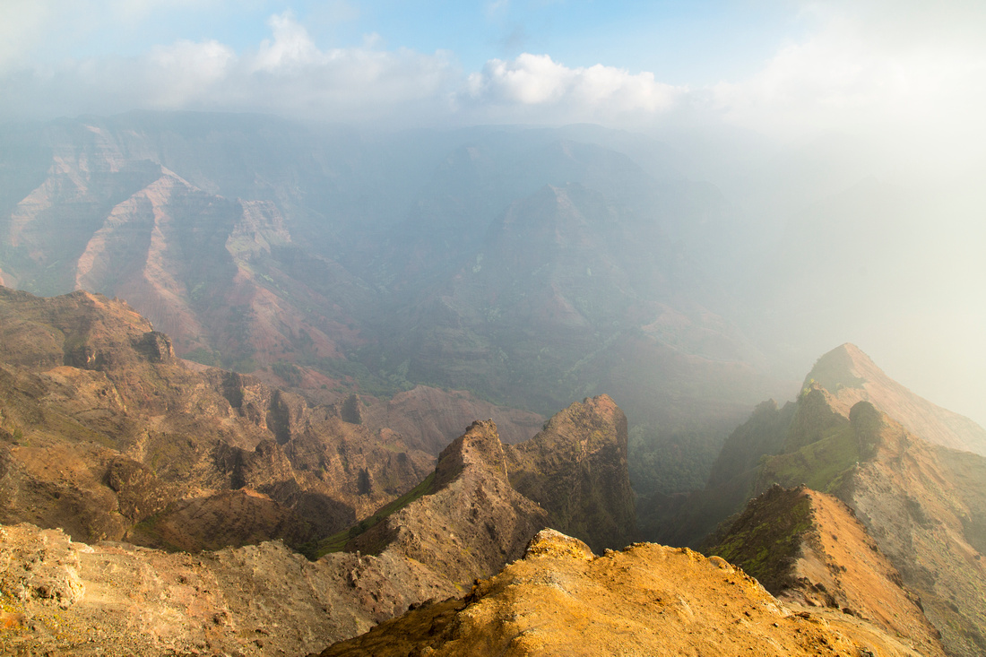 Vog Sunrise from Waimea Canyon Lookout (2)