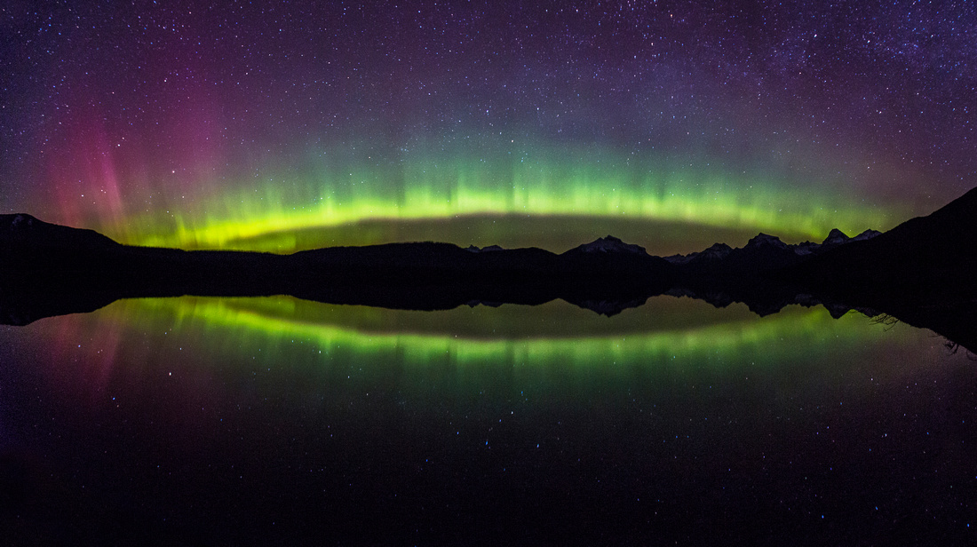 Aurora Arc on Lake McDonald