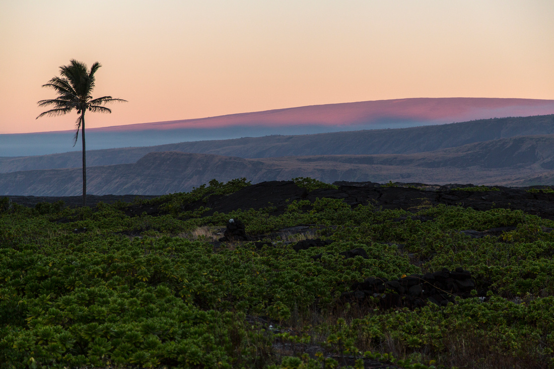 Sunrise on Mauna Loa From Apua Point