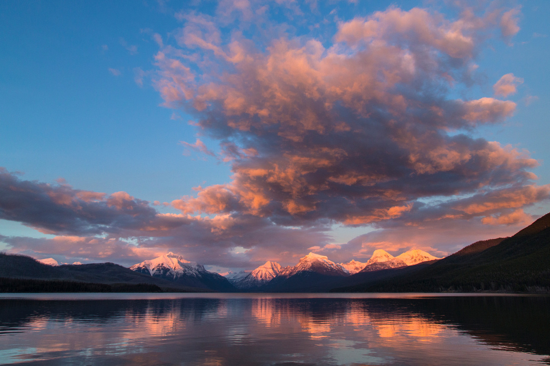 Lake McDonald Sunset Wide Angle 11.20.15