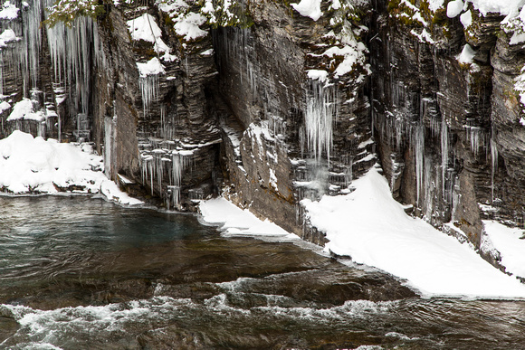 Icicles Along McDonald Creek