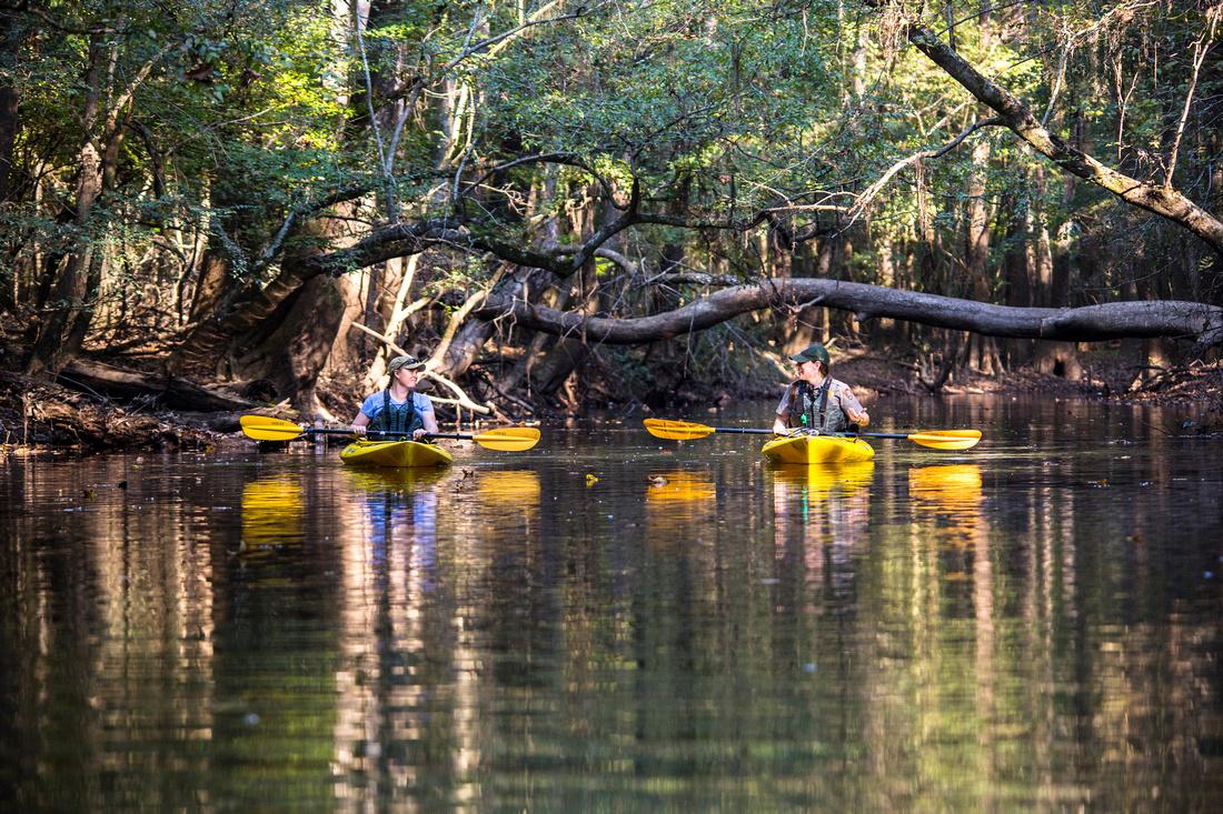 Corrie and Lindsay on Cedar Creek