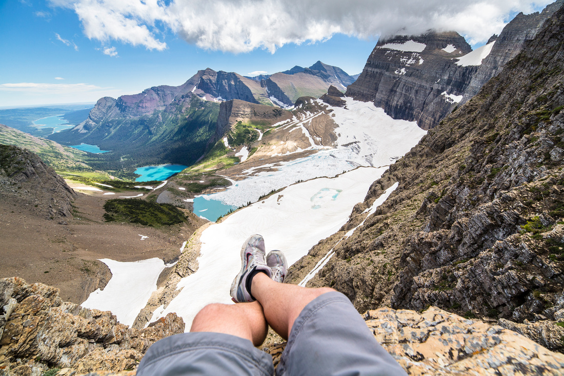 Relaxing at Grinnell Glacier Overlook