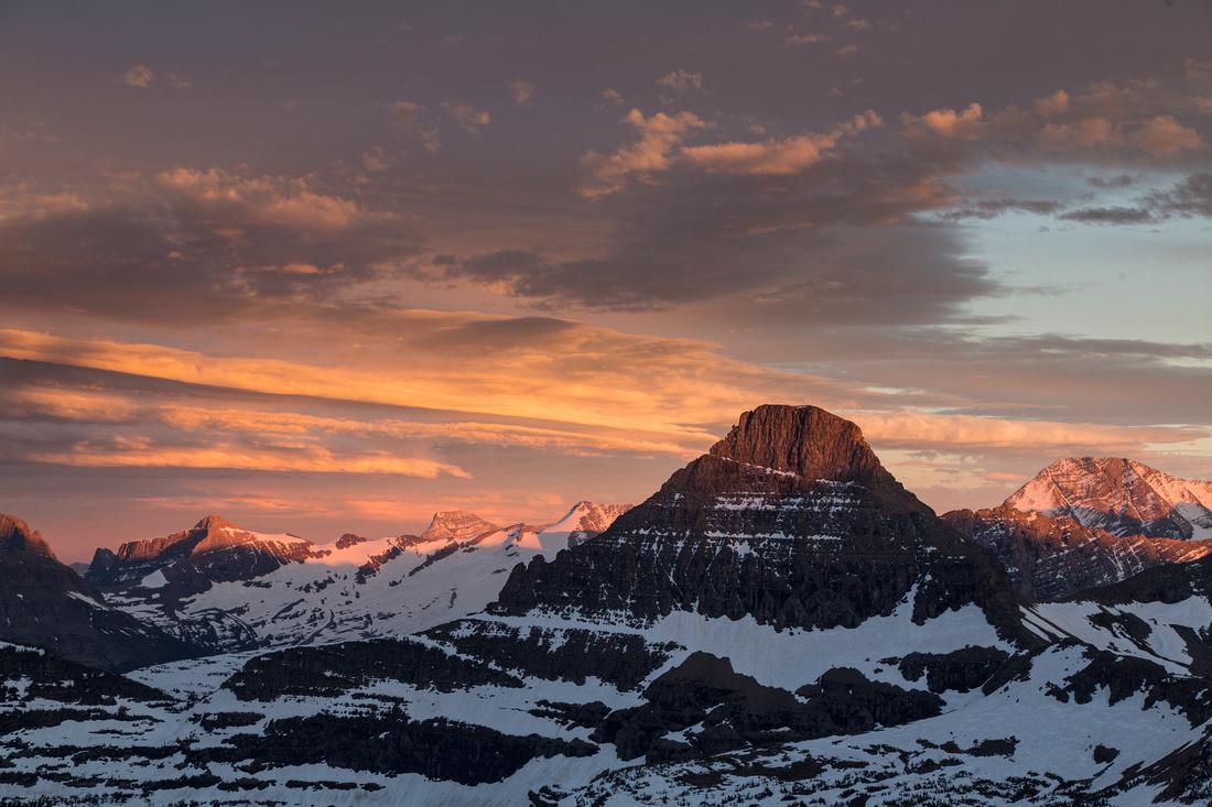 Last Light on Mount Reynolds