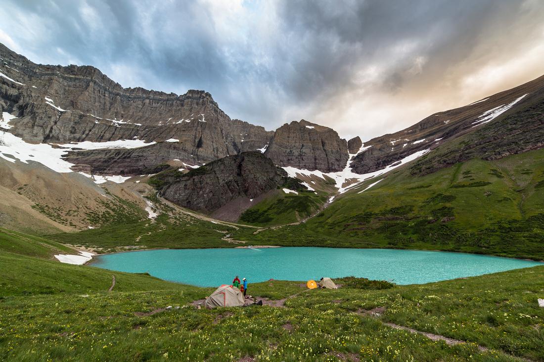 Cracker Lake Campground Sunset